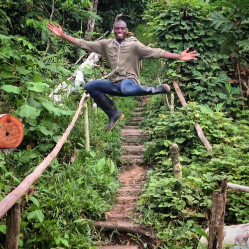 Mister Levius/Travis Levius Jumping for Joy in the Jungle- Amazon Rainforest